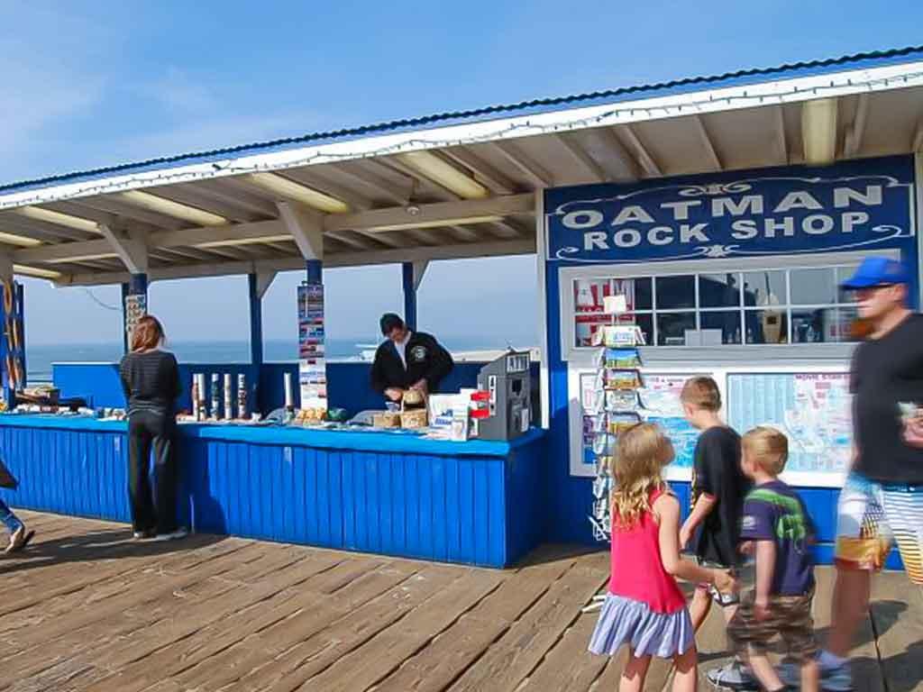 Oatman Rock Shop on the Santa Monica Pier