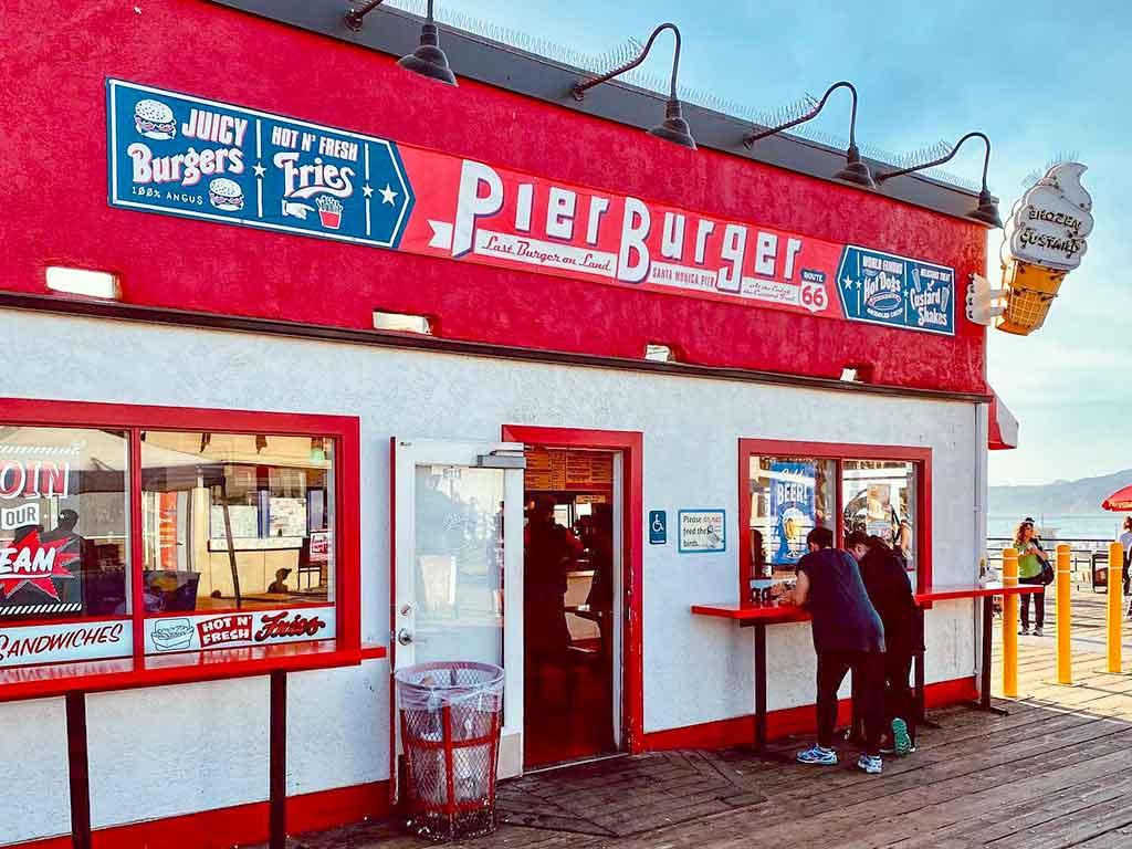 Pier Burger restaurant on the Santa Monica Pier