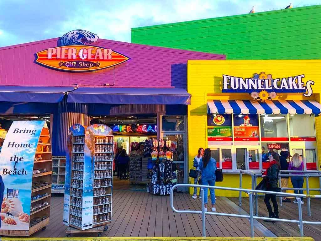 Exterior of Pier Gear gift shop on the Santa Monica Pier