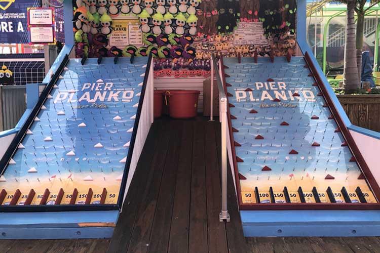 Planko game on the Santa Monica Pier