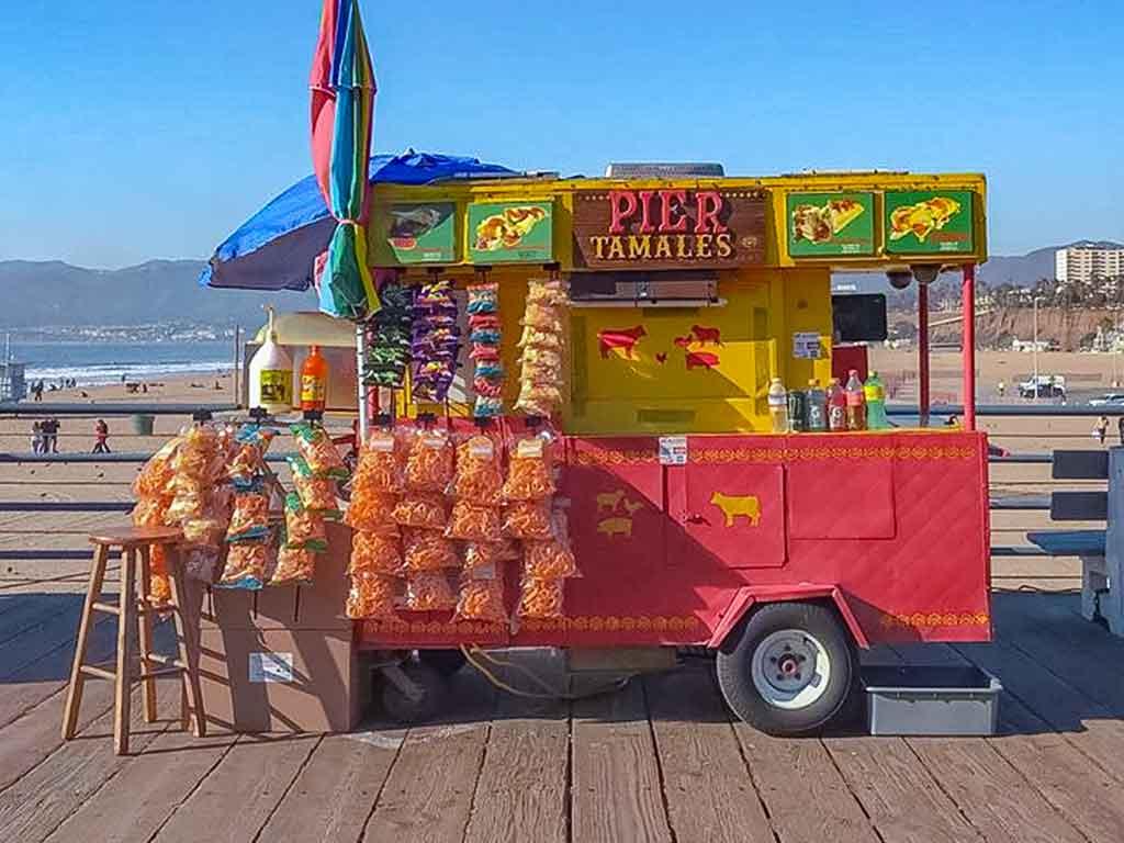 Tamale cart on the Santa Monica Pier