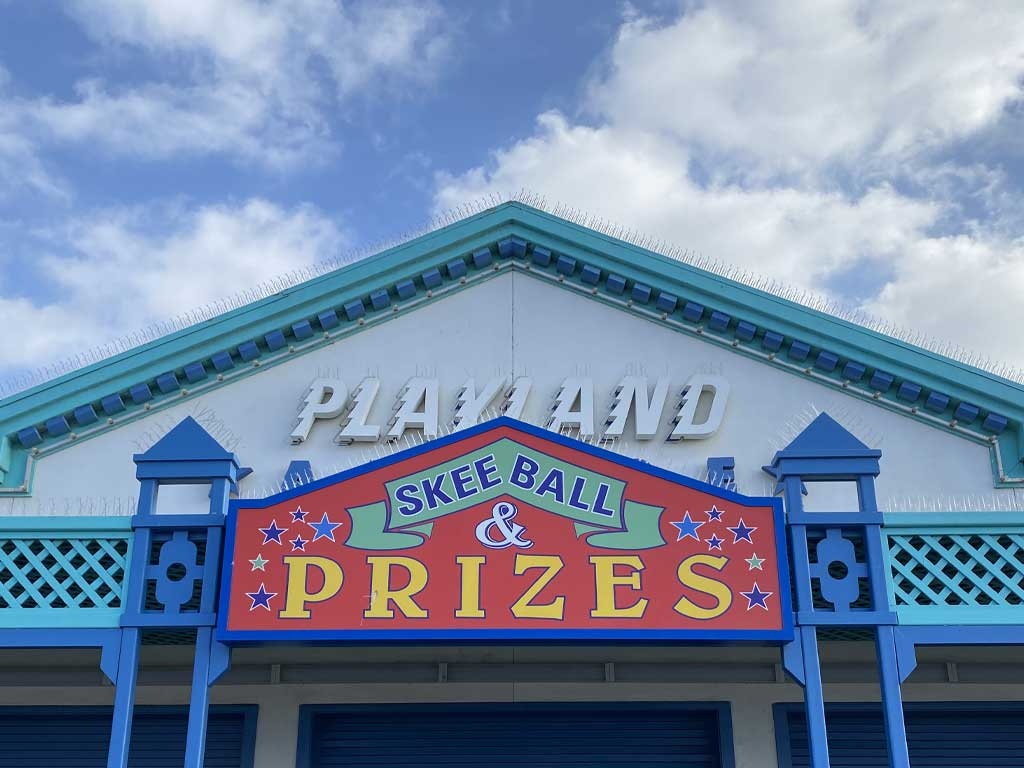 Playland Arcade Sign on the Santa Monica Pier