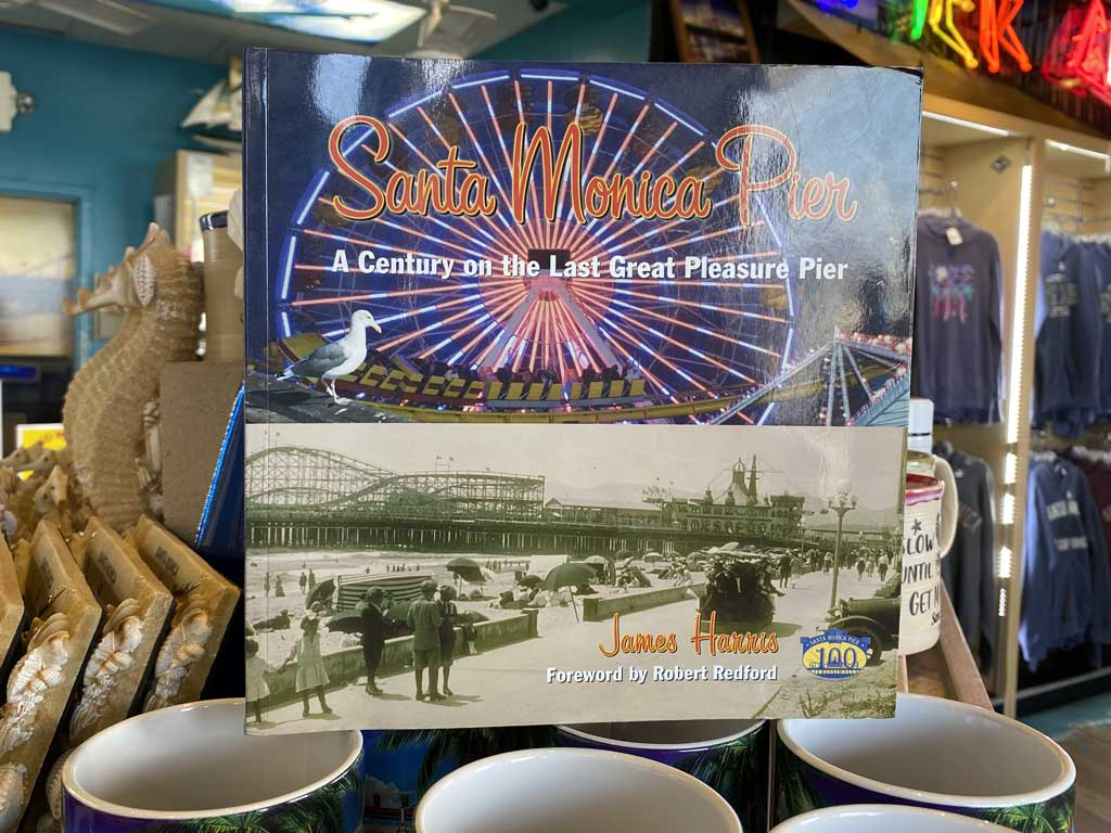 Book about Santa Monica Pier history on display at store