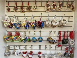 Display of ornaments at the Santa Monica Pier