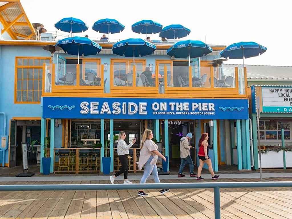 Seaside on the Pier restaurant on the Santa Monica Pier
