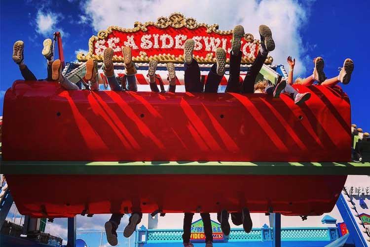 Seaside Swing ride on the Santa Monica Pier
