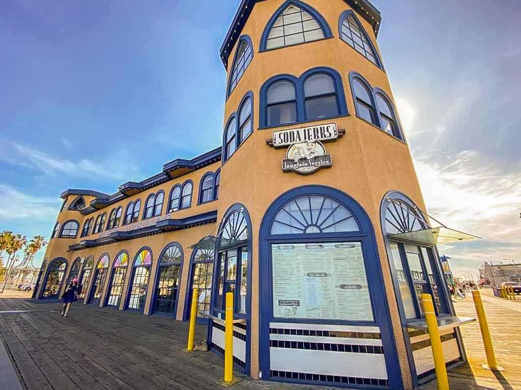 Soda Jerks ice cream building on the Santa Monica Pier