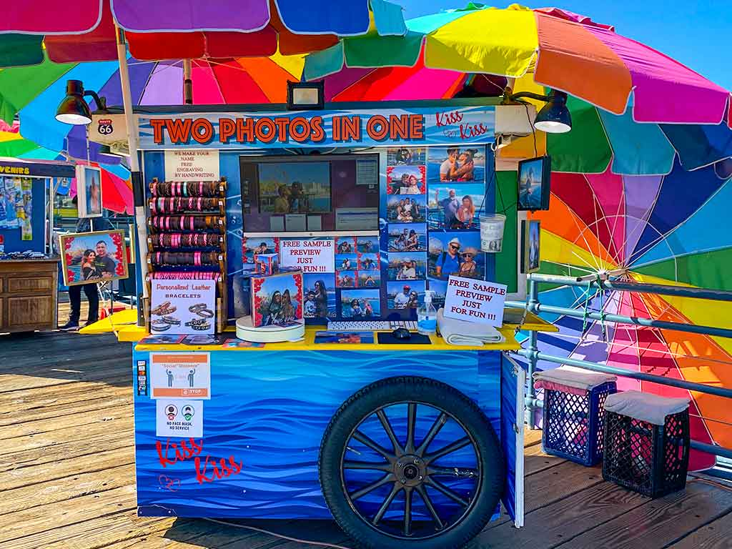 Photo kiosk on the Santa Monica Pier