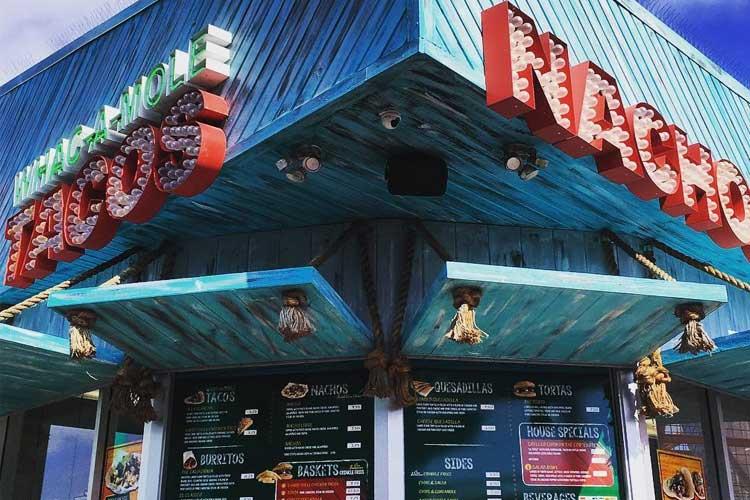 Exterior of Whac-a-mole Tacos on the Santa Monica Pier