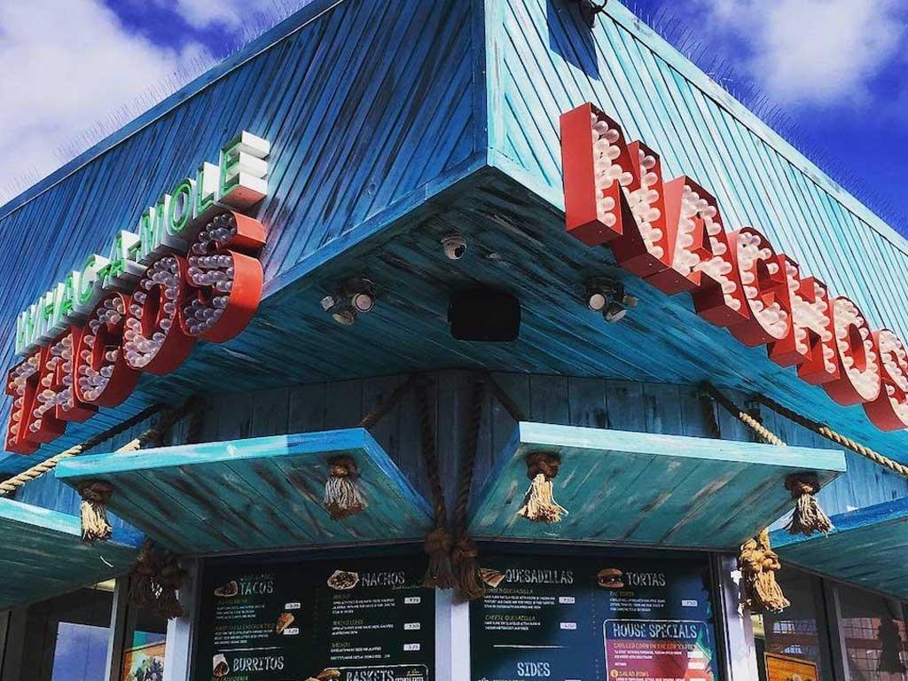 Whac-a-mole Taco restaurat Santa Monica Pier