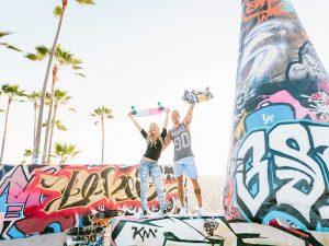 Couple at Venice Skate Park