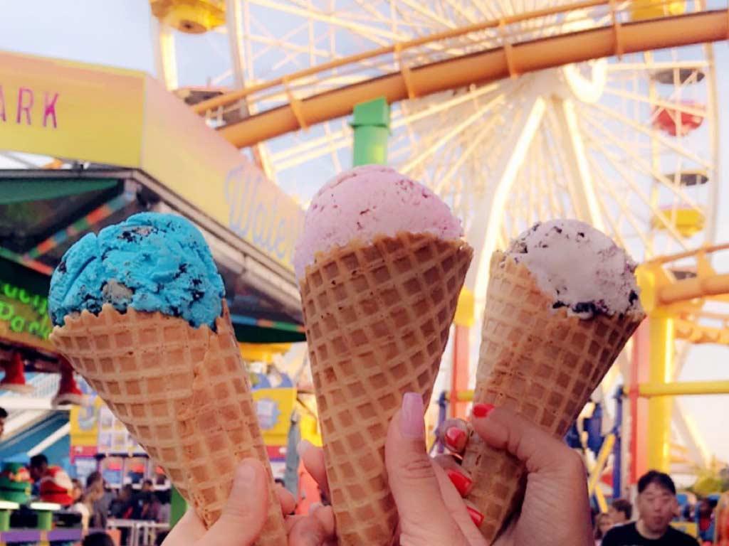 Picture of three ice cream cones