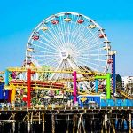 The Santa Monica Pier ferris Wheel