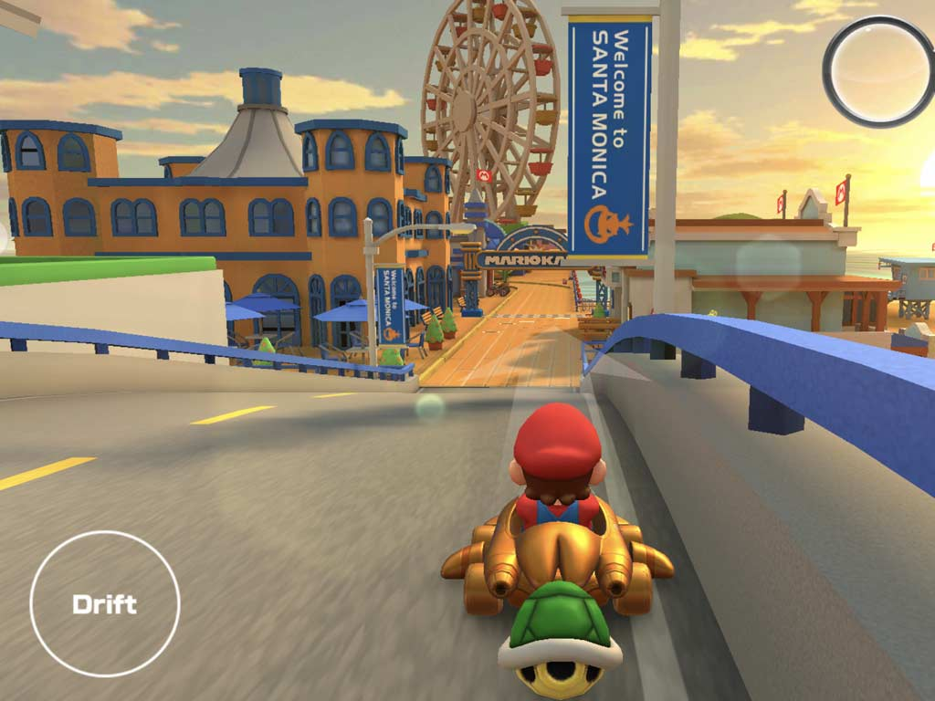 Mario Kart on the Santa Monica Pier