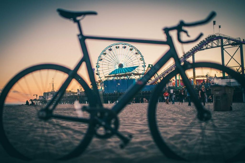 Bicycle by the Santa Monica Pier