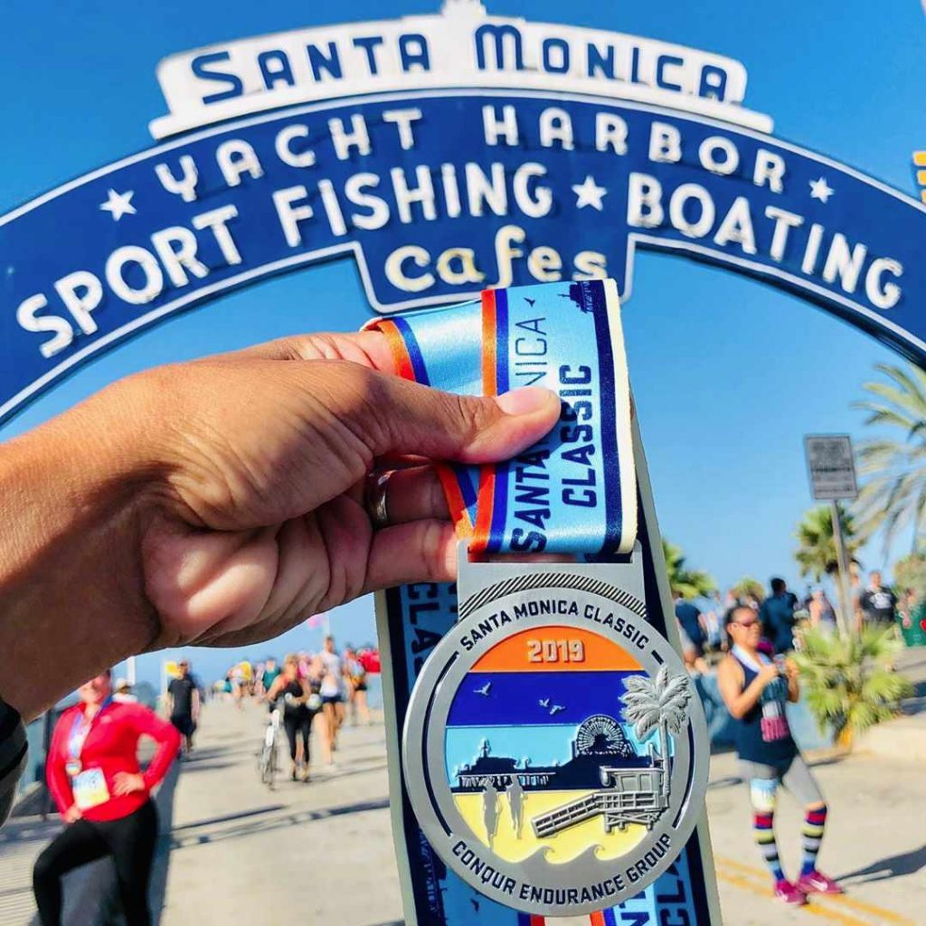 Santa Monica Classic Race Medal from 2019