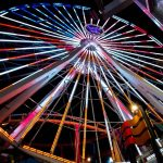 The United States flag displayed on the Pacific Park Ferris wheel for th3 4th of July   Photo by @oooskooskieooosk